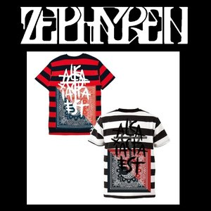 ZEPHYREN BORDER S/S TEE BLACK ゼファレン ボーダー Tシャツ moshpunx