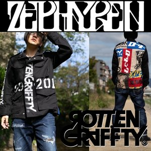 ROTTENGRAFFTY× Zephyren 20周年 M-65 ジャケット ロットングラフティー ゼファレン moshpunx