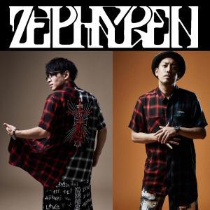 ZEPHYREN SWITCHING SHIRT S/S ゼファレン ロングシャツ チェック 半袖 moshpunx