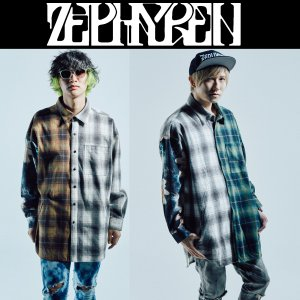 ZEPHYREN SWITCHING BIG SHIRT L/S ゼファレン シャツ|moshpunx