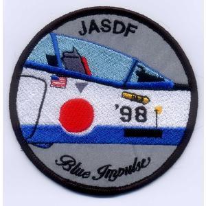 航空自衛隊・ブルーインパルス1998年度ツアーパッチ(ベルクロなし)