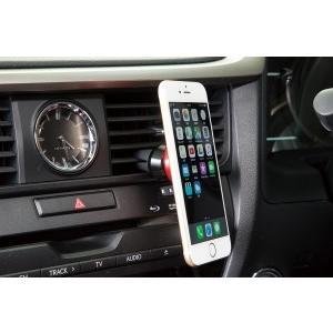 【製品特徴】 強力マグネット固定タイプの車載スマートフォンホルダー。 角度や向きは、自由自在に動かせ...