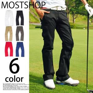 ゴルフウェア ゴルフパンツ メンズ チノパン ブーツカット ストレッチパンツ ボトムス メンズウェア スポーツウエア 男性|mostshop