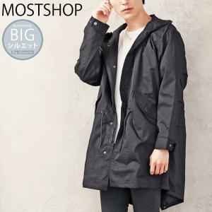 モッズコート メンズ ミリタリージャケット スプリングコート ロングコート オーバーサイズ ビッグシルエット ワイド 無地 春新作 春服|mostshop