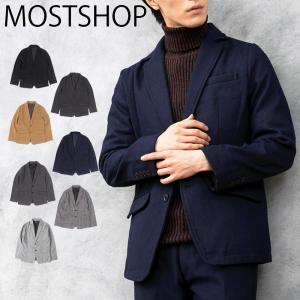 テーラードジャケット メンズ メルトンウール コート シングル 無地 柄 グレンチェック ツイード 秋冬|mostshop