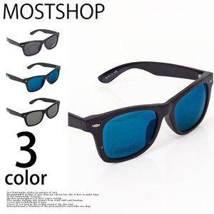 サングラス メンズ ミラーサングラス スモーク ミラーレンズ ウェリントン スクエア ファッション小物 グラサン メガネ 眼鏡|mostshop