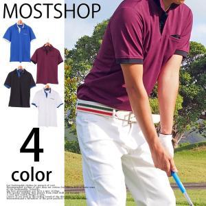 カジュアルウェアのポロシャツとしても活用できるデザイン性抜群のゴルフウェアー半袖ポロシャツ! ストレ...