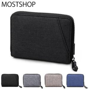 二つ折り財布 メンズ 財布 サイフ さいふ 2つ折り財布 コンパクトウォレット ラウンドファスナー ジップ カード入れ 小銭入れ PVCナイロン ファッション小物|mostshop