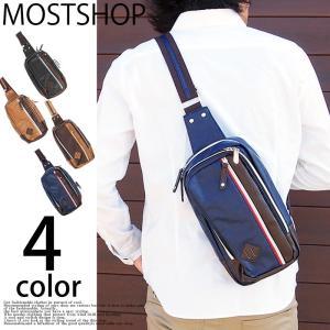 ボディバッグ メンズ ボディーバッグ ボディバック ワンショルダーバッグ カバン かばん 鞄 カジュアル 男性用 フェイクレザー 小物|mostshop