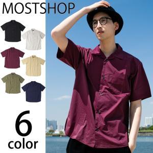 シャツ メンズ シャツ 無地シャツ 7分袖シャツ 七分袖シャツ 五分袖シャツ|mostshop