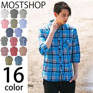 シャツ メンズ リネンシャツ チェックシャツ 無地 綿麻 ワッフル 7分袖 七分袖 半袖 カジュアル トップス 開襟 オープンカラー 白シャツ メンズファッション|mostshop