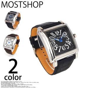 腕時計 メンズ 腕時計 ビッグフェイス フェイクレザーベルト ウォッチ|mostshop