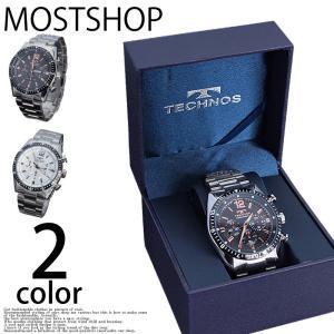 腕時計 メンズ 腕時計 自動巻き ウォッチ テクノス TECHNOS クロノグラフ mostshop