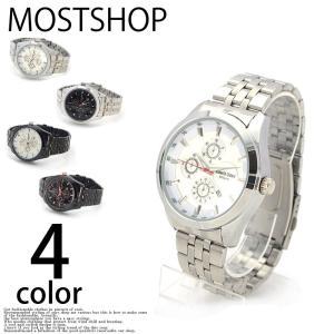 腕時計 メンズ 腕時計 クロノグラフ クオーツ ウォッチ ステンレス mostshop