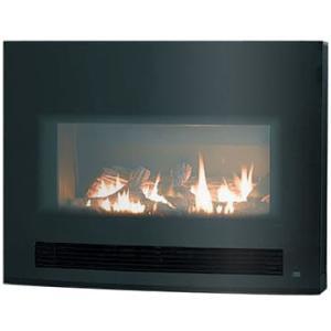 暖房器具 ガス暖炉 リンナイ アリーバ(Arriva) MIDNIGHT 曲面ガラスブラック RHFE-750ETR-GB|mot-e-gas