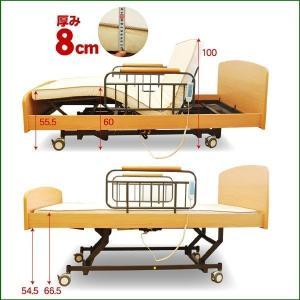 電動ベッド 開梱設置付きレビューで1年補償 電動ベッド 介護ベッド 電動3モーターベッド ケア3(サイドテーブル付き)-ART 敬老の日 プレゼント おすすめ 2017|mote-kagu|09