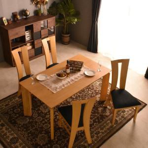 ダイニングテーブル リビングテーブル 送料無料 オーク材 ミッドセンチュリー 食卓テーブル 140cm幅 おしゃれ北欧 英国 デザイン 快適 洋風 マリアン5点|mote-kagu