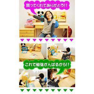 学習机 勉強机 学習デスク ヒット 3点セット(T型LEDデスクライト+学習椅子(リーン))-KW-733-ART 2015|mote-kagu|03