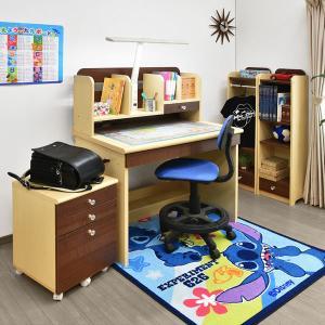 レビューで1年補償 学習机 勉強机 パーフェクト (T型LEDデスクライト+学習椅子付)-ART ハンガーラック 書棚 ワゴン デスク mote-kagu 04