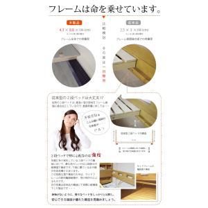 耐荷重500kg 二段ベッド 2段ベッド  イーニーフラット【FLAT】(本体のみ)  木製ベッド 子供用ベッド 子供ベッド|mote-kagu|04