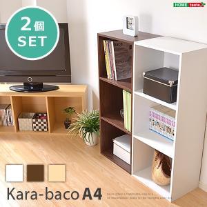 カラーボックスシリーズ【kara-bacoA4】3段A4サイズ 2個セット mote-kagu