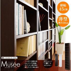 ウォールラック-幅45・浅型タイプ-【Musee-ミュゼ-】(天井つっぱり本棚・壁面収納)|mote-kagu