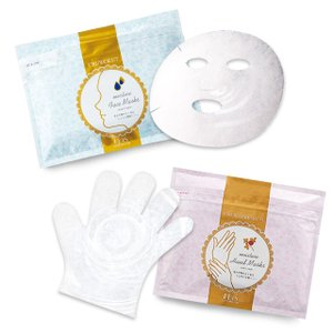 ハンドケア マスク パック シートマスク 手袋 保湿 ウルオイート フェイスマスクN+ハンドマスクP Wセット 各36枚|motebeauty