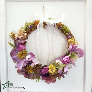 紫色のドレス リース|motherrose