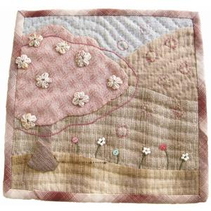 パッチワークキット k-59 4月 桜のミニタペストリー メール便対応商品 |mothersdream