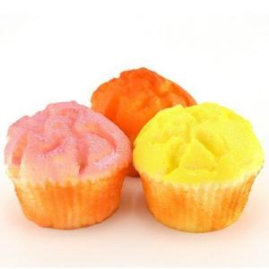 スクイーズ カップケーキ|可愛い ふわふわ やわらか マスコット|食玩 食品サンプル スイーツ 低反発 マスコット|甘い香り付き 選べる全3種