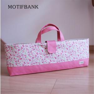 【ピアニカケース】 鍵盤ハーモニカ  ハンドメイド:ピンク花柄|motifbank