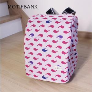 【ランドセルカバー】 レインカバー  【くじら:ピンク】 便利な収納ポーチ付|motifbank