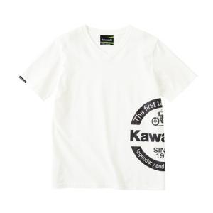 KAWASAKI  カワサキ NO.1 テクノロジーTシャツ(ホワイト)Mサイズ|moto-jam