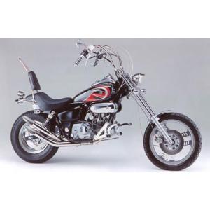 マグナ50/JAZZ用 スラッシュカットWマフラー HE1004S_ハリケーン/HURRICANE|moto-ship