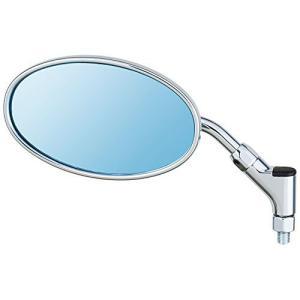 タナックス/NAPOLEON クラシカル3ミラー シルバー ブルー鏡 左右共通 ネジ径10mm AB3-101-10B|moto-ship