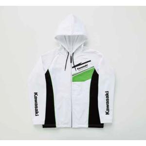 カワサキ純正 サーキットフードジャケット(ホワイト/Mサイズ)_KAWASAKI-J8016-0287|moto-ship