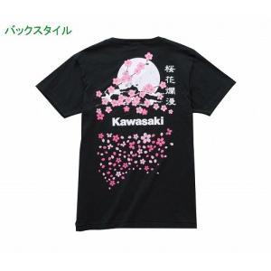 カワサキ純正 桜満開Tシャツ(夜桜ver/フリーサイズ)_KAWASAKI-J8901-0741|moto-ship