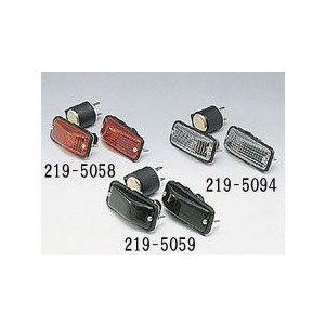 12V汎用 カウルタイプウインカー#630(スモーク)2個セット 219-5059_キジマ/KIJIMA moto-ship