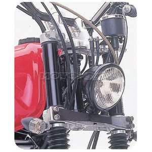 TW200/TW225(-07)用 ベーツライトステー(ステンレス製/4.5インチ対応) POSH-023177-ST_ポッシュフェイス/POSH|moto-ship