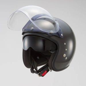 OWLスモールジェットヘルメット(回転式バブルシールド付)ガンメタリック HSJ-GM_東単/TOHTAN|moto-ship