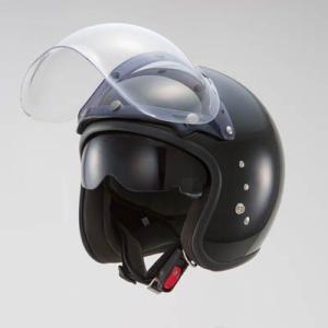 OWLスモールジェットヘルメット(回転式バブルシールド付)パールブラック HSJ-PB_東単/TOHTAN|moto-ship