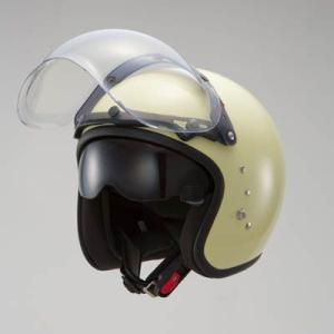 OWLスモールジェットヘルメット(回転式バブルシールド付)パールアイボリー HSJ-PIV_東単/TOHTAN|moto-ship