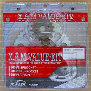 YZF-R1(06-07)用 バリューキット(DIDシルバーチェーン/前後スプロケットSet) K-6227S_ザムジャパン/XAM|moto-ship