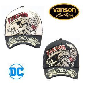 VANSON×DC COMICS ツイルメッシュキャップ スーパーマン バンソン コラボ (dcv-809)|motobluez-store