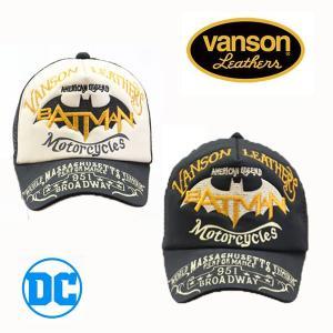 VANSON×DC COMICS ツイルメッシュキャップ バットマン バンソン コラボ (dcv-810)|motobluez-store