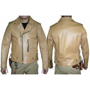 【フリーダム】カウダブルライダースジャケット TAN|motobluez-store