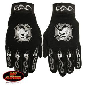 【Hot Leathers】メカニックグローブ Hardcore Mohawk Skull motobluez-store