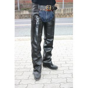 【HEAVY】ステアハイドチャップス ブラック ブラスVer motobluez-store