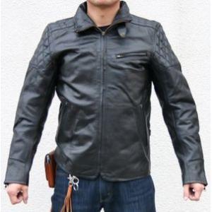 【HEAVY RED LABEL】シングルライダースジャケット パッド付き MOTOBLUEZ/モトブルーズ|motobluez-store