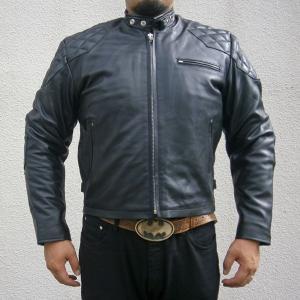 [Large Size]MOTOBLUEZ【HEAVY モトブルーズ】 プレミアムバッファロー パッドシングル(スタンドカラー)ジャケット|motobluez-store
